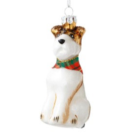 Scottie Dog Glass Decoration
