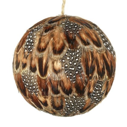 Brown Speckled Feather Decoration