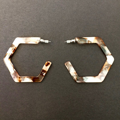 Talia hexagon hoop earrings