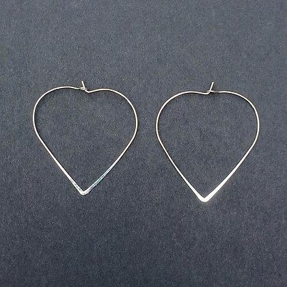 Morgan heart hoop earrings
