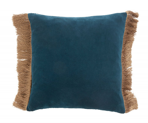 Double Sided Two Tone Teal/Dusty Blue Velvet Cushion