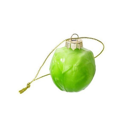 Glass Brussel Sprout Decoration