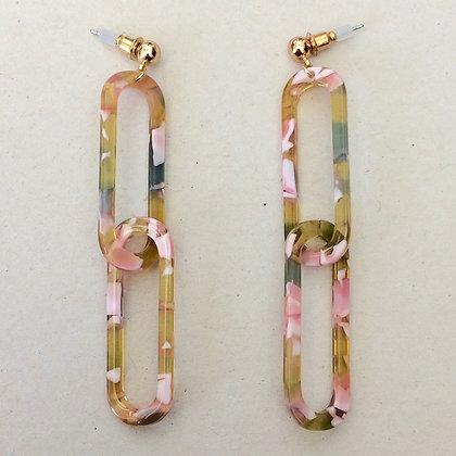 Mabel resin link drop earrings