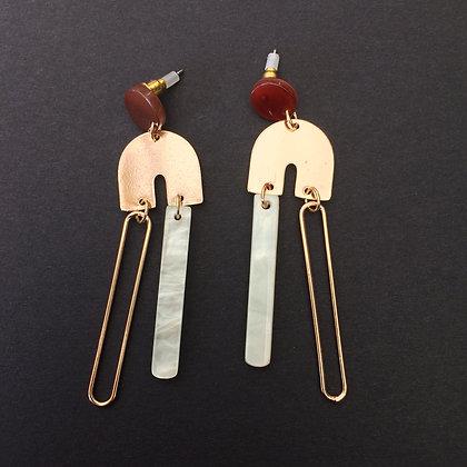 Trixie irregular drop earrings
