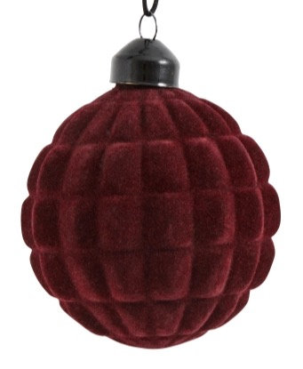 Dark Red Square Cut Bauble