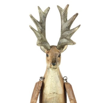 Carved Wooden Reindeer (small)