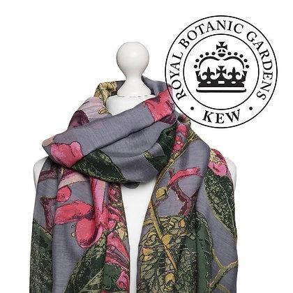 One Hundred Stars Kew Magnolia grey scarf