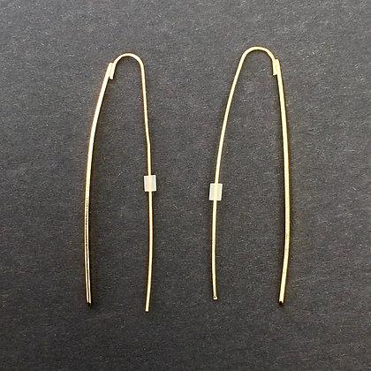 Alissa pull through earrings