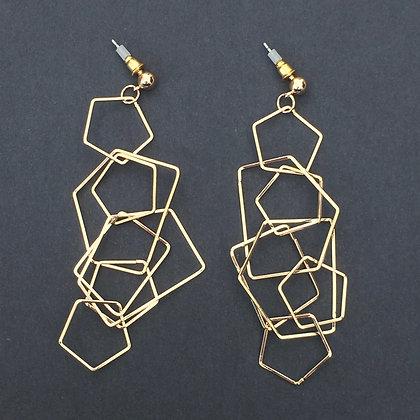 Alexia geometric link drop earrings
