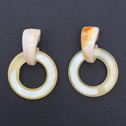 Loula retro circle earrings