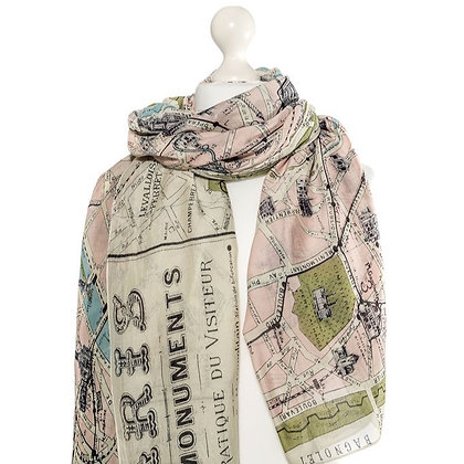 One Hundred Stars Paris scarf