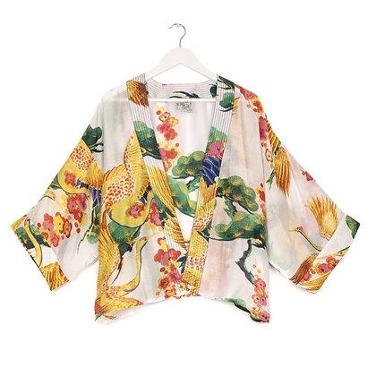 One Hundred Stars Wedding Orange kimono jacket