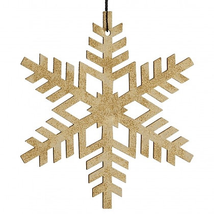 Cut Out Gold Snowflake  Decoration