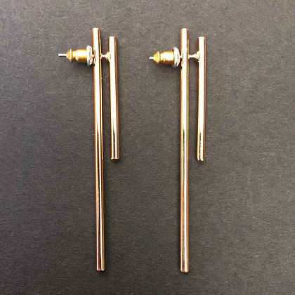 Renee front and back bar earrings