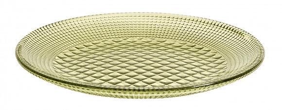 Green Glass Tea Plate