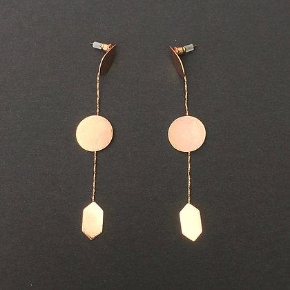 Sadie geo dot to dot drop earrings