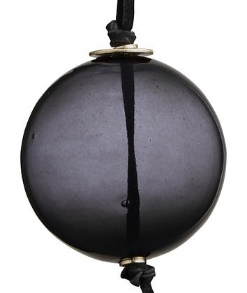 Grey Glass Bauble Decoration
