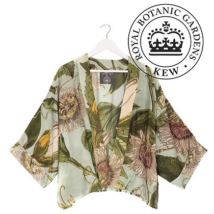 One Hundred Stars Kew Passionflower aqua kimono jacket