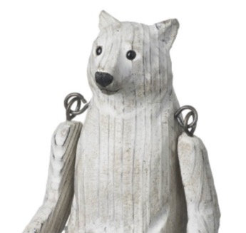 Carved Wooden Polar Bear (small)