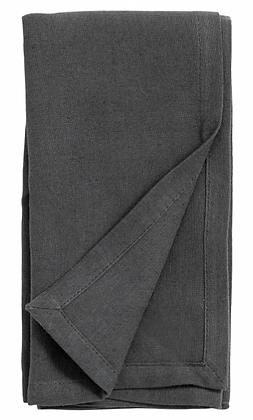 Pair of Dark Grey Cotton/Linen Napkins
