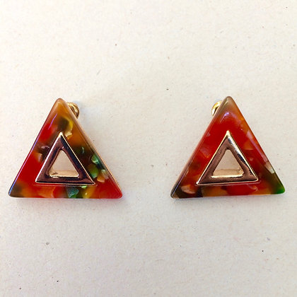 Connie resin triangle earrings