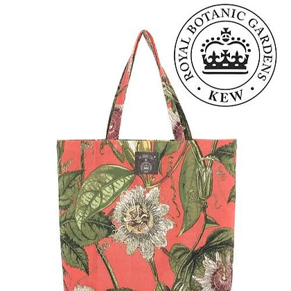 One Hundred Stars Kew Passionflower coral bag