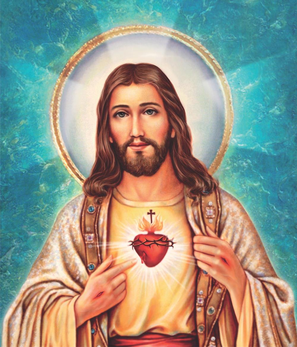 Imagem usada no cromo da Folhinha do Sagrado Coração de Jesus 2019