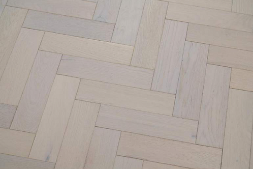 Herringbone White Lacquered 70mm x 300mm