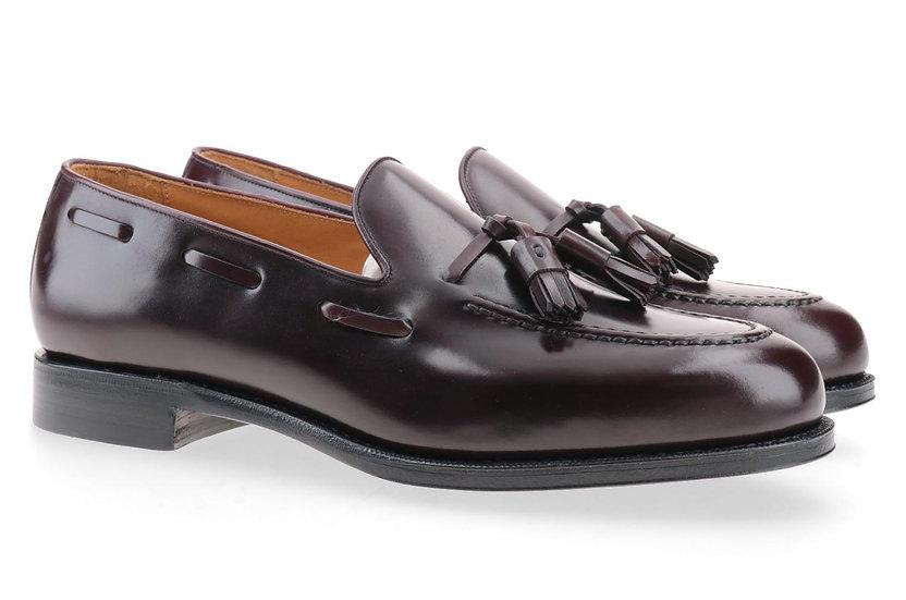 CORDOVAN Tassel-Loafer oxblood