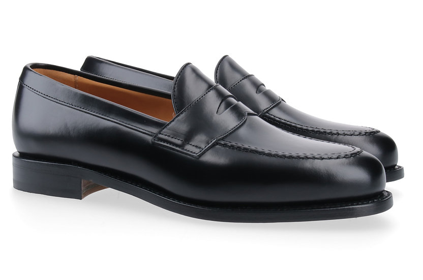 Penny-Loafer in Glanzleder schwarz
