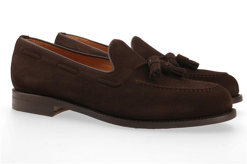Tassel-Loafer in Wildleder dunkelbraun