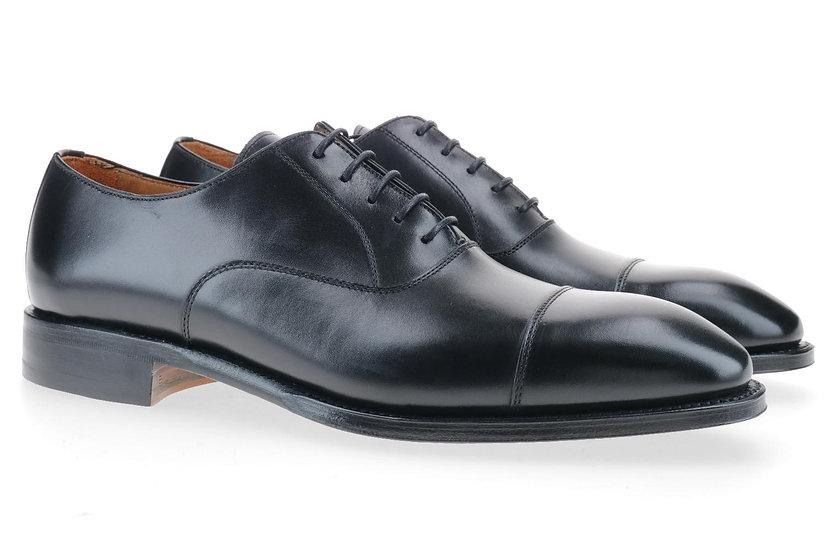 Captoe Oxford schwarz Ledersohle
