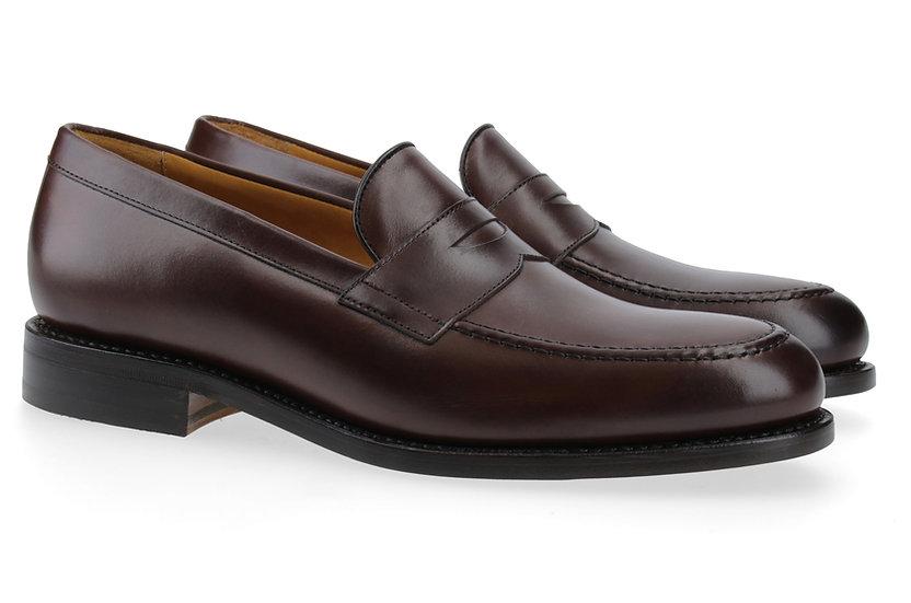 Penny-Loafer in Glattleder braun