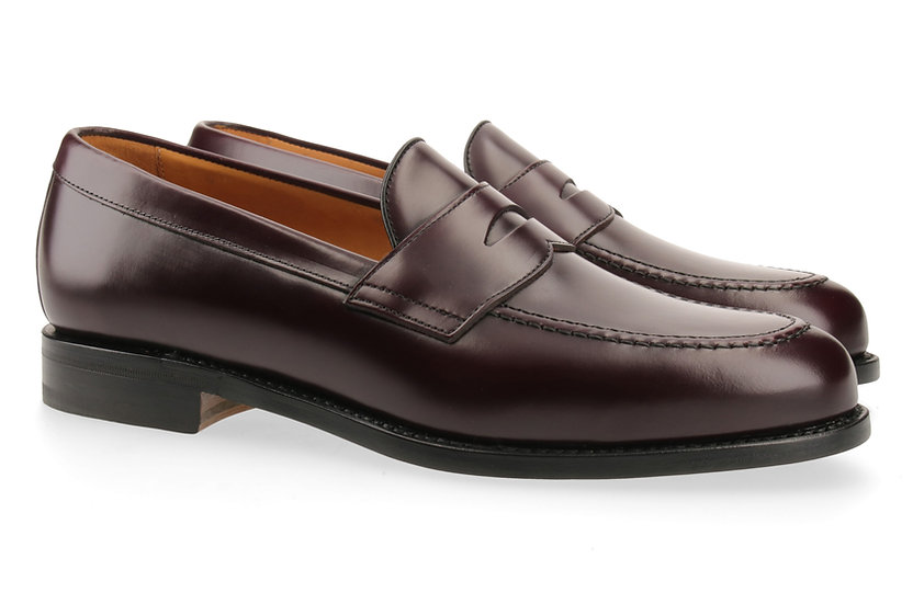 Penny-Loafer in Glanzleder dunkles bordeaux