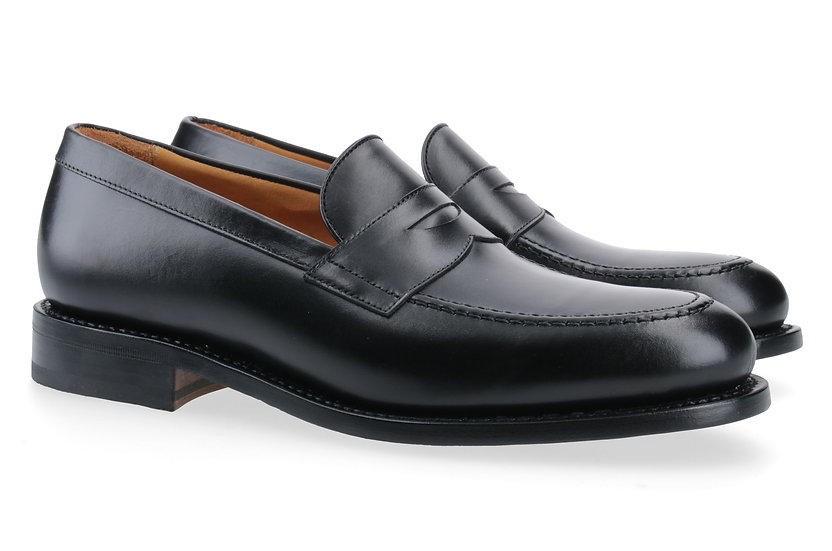 Penny-Loafer in Glattleder schwarz