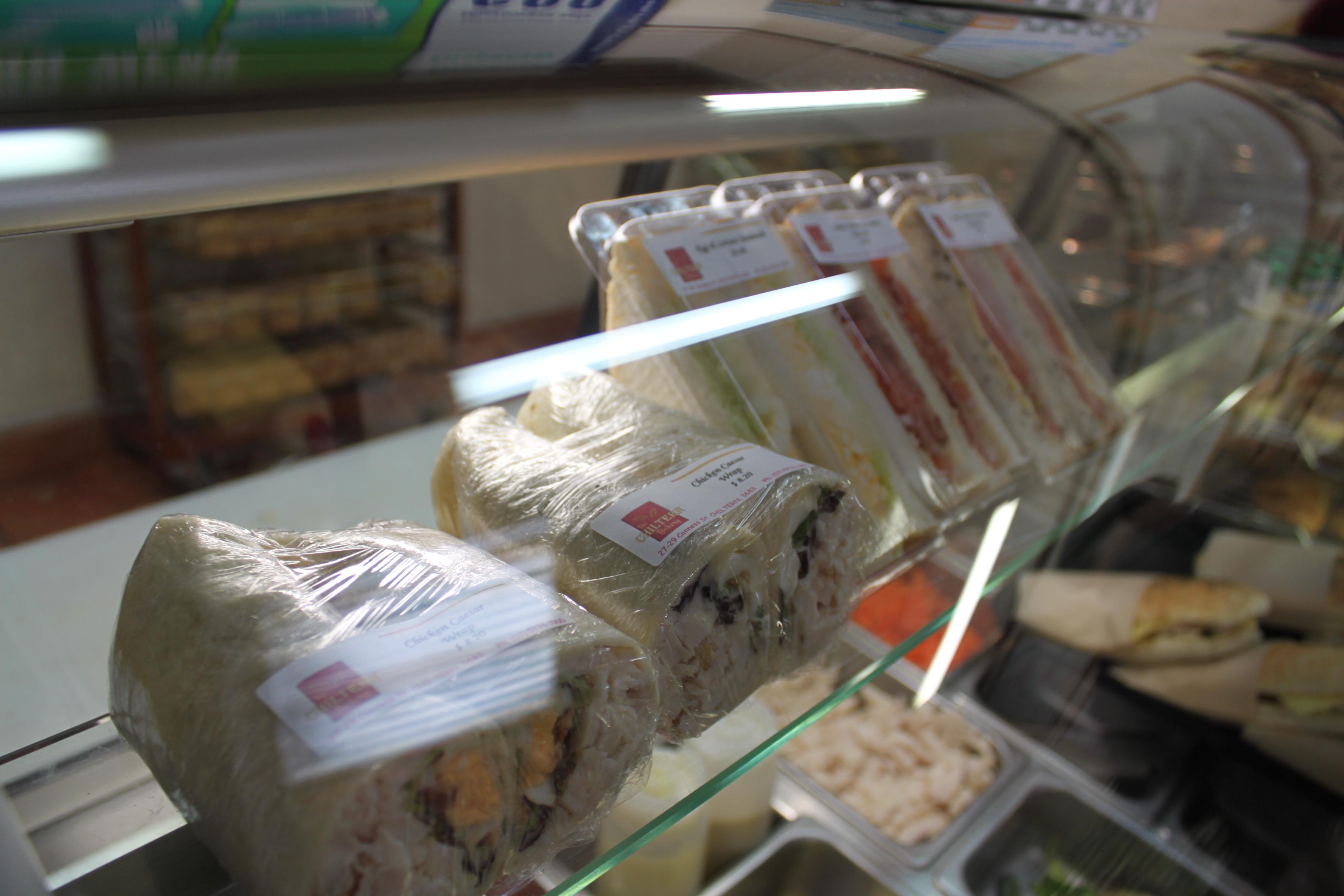 Range of Sandwiches, Rolls & Wraps