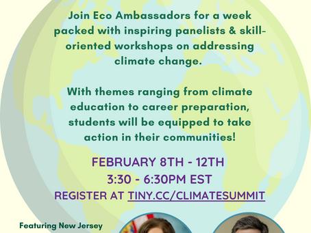 NY & NJ Climate Education Youth Summit!