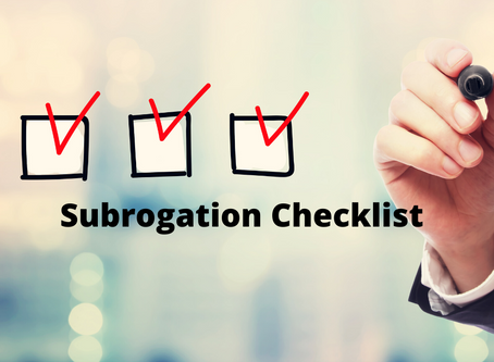 Subrogation Checklist for Injury Cases