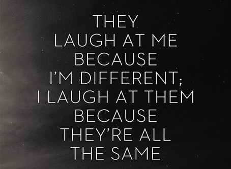 Be different from the crowd.