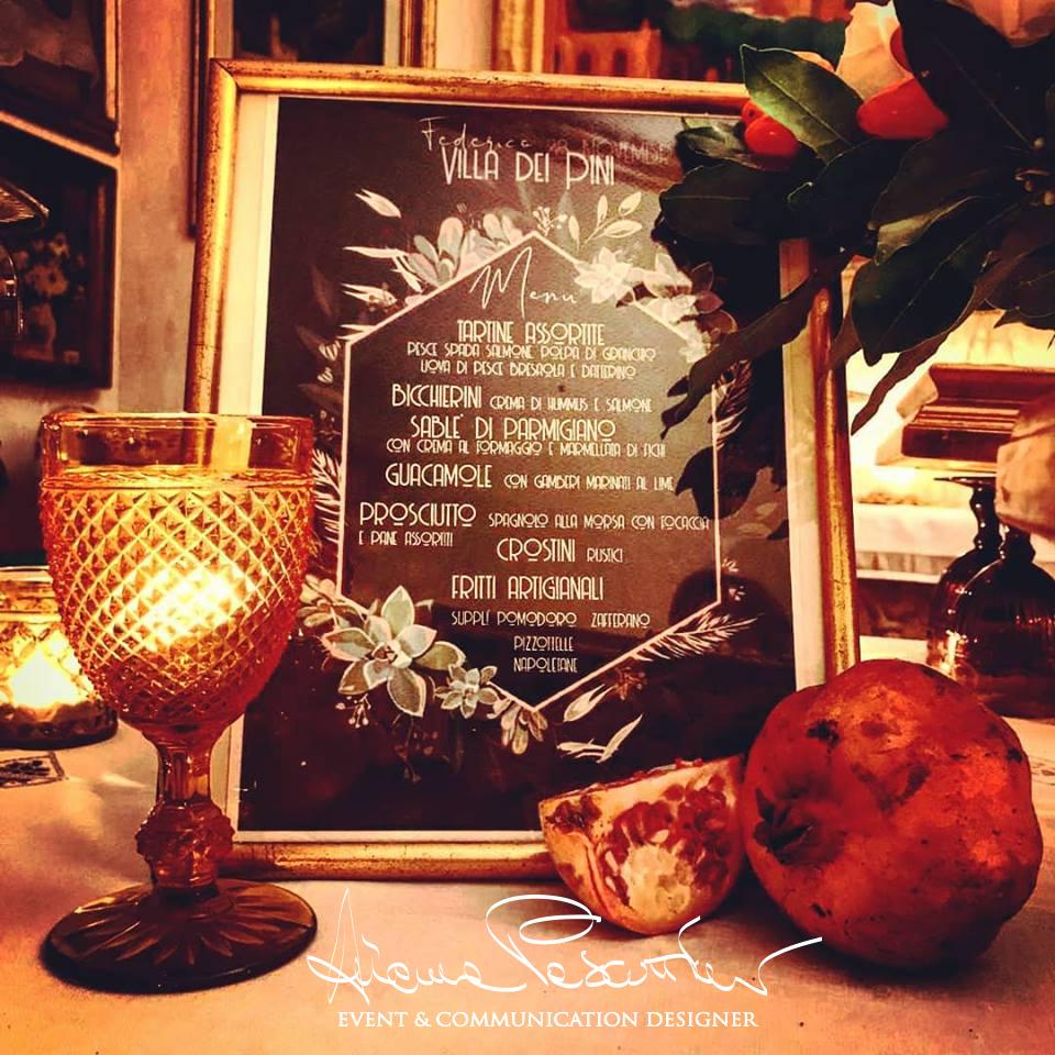 menu gotico