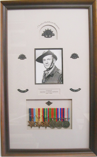Framed_Army_Memorabilia_War_Medals_and_Black_&_White_Portrait