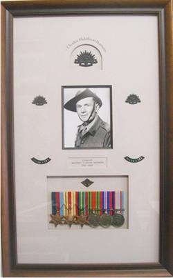 Framed_Army_Memorabilia_War_Medals_and_Black_&_White_Portrait