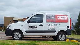Camioneta prestadora de servicio técnico para mantenimiento de compresores, post-venta