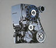 El conjunto motor y compresor se unen mediante una brida lo cual no permite perdida de potencia de transmisión