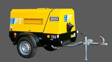 Compresor de tornillo portátil de alto rendimiento equipado con motor DEUTZ y PERKINS