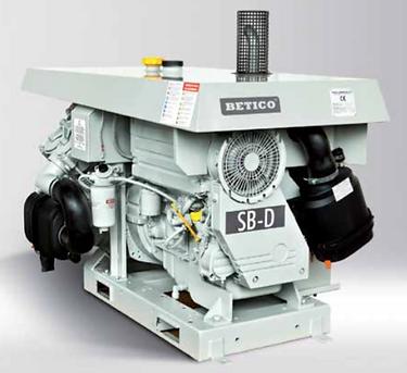 Compresor utilizado para transporte neumático de cemento, arena, varita, áridos en ambientes polvorientos