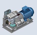 Compresor de la serie RB-J accionado directamente por un motor eléctrico, puede trabajar 24h/día