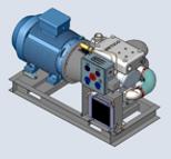 Compresor de la serie RB-J accionado directamente por un motor eléctrico, ideal para aplicaciones fijas o industriales