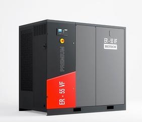 Compresor de la línea ER, diseño compacto, muy bajo nivel sonoro, variador de frecuencia, diseño simple, motor y ventilador de alta eficiencia