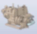 Conjunto motocompresor, completamente autónomo, accionado directamente por motor diesel embridado al compresor y formando un robusto y compacto conjunto